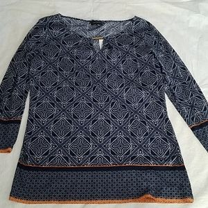 The Limited Blue & Orange Blouse Sz MD NEW